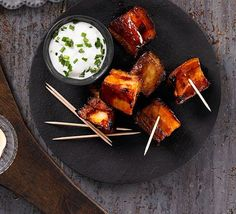 pork belly chunks Bourbon-glazed pork belly chunks recipe - Recipes - BBC Good Food I am literally drooling just reading about it!Bourbon-glazed pork belly chunks recipe - Recipes - BBC Good Food I am literally drooling just reading about it! Christmas Canapes, Christmas Buffet, Christmas Party Food, Xmas Food, Christmas Recipes, Christmas Nibbles, Christmas 2019, Christmas Ideas, Bbc Good Food Recipes