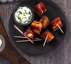 Bourbon-glazed pork belly chunks recipe - Recipes - BBC Good Food   I am…