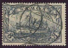 German Colonies, DP-Samoa 1900/01, 3 Mk., gest. Pracht, gepr. Pfenninger und Dr. Lantelme BPP (gest., Mi.-Nr.18/Mi.EUR 170,--). Price Estimate (8/2016): 40 EUR.