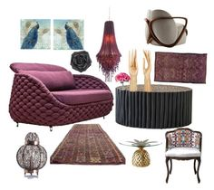 """Textured Ethnic Elegance"" by zdvine-mscass on Polyvore featuring interior, interiors, interior design, home, home decor, interior decorating, LOTTA, Giorgetti, Modern Vintage and Courtside Market"