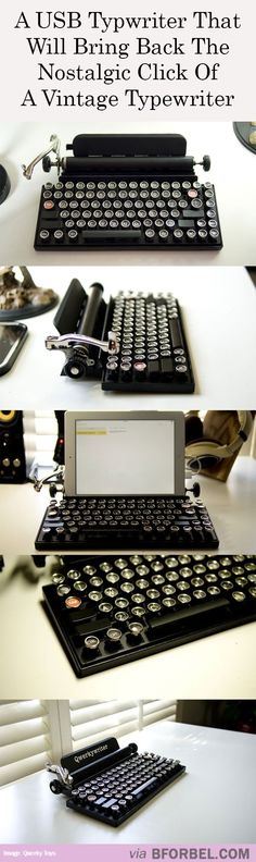USB Typewriter For The Hipsters Of The World…