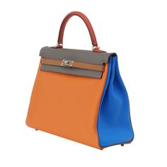 HERMES KELLY 35 Supple ARLEQUIN harlequin bag Limited Edition | From a collection of rare vintage handbags and purses at http://www.1stdibs.com/fashion/accessories/handbags-purses/