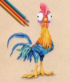 Inspiring images based on Disney characters. - The Trend Disney Cartoon 2019 Realistic Drawings, Art Drawings Sketches, Colorful Drawings, Cartoon Drawings, Cartoon Art, Animal Drawings, Disney Character Drawings, Cute Disney Drawings, Disney Sketches