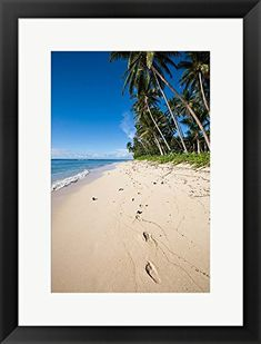 Lavena Beach in Taveuni, Fiji by Douglas Peebles / Danita Delimont Framed Art Print Wall Picture, Black Frame, 18 x 24 inches Framed Art Prints, Poster Prints, Fiji, Picture Wall, Image Link, Note, Amazon, Beach, Happy