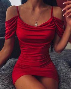 Women's Fashion Bodycon Kleider Online Shopping – Chic Me Trend Fashion, Look Fashion, Mini Vestidos, Womens Fashion Online, Pattern Fashion, The Dress, Ruffles, Ideias Fashion, Skirt Set
