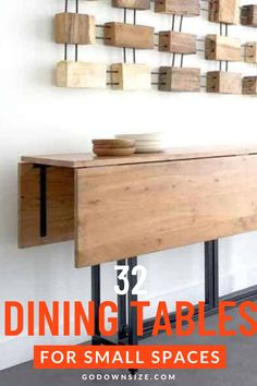 Dining tables cantake up a lot of space. So this is an important piece of furniture to optimize for small space living. There are many good designs out there and we'll help you take a closer look at some of the best space-saving dining tables for small spaces. Dining Table Small Space, Small Space Living, Small Spaces, Dining Tables, Rv Living, Tiny Living, Storage Hacks, Organization Hacks, Small Bathroom Storage