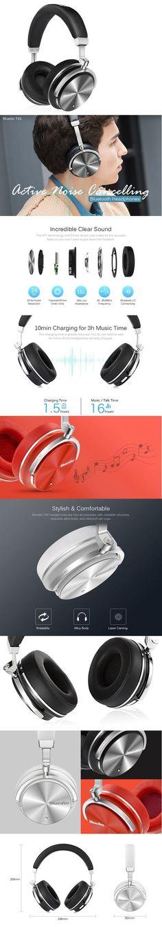 Bluedio T4S Noise Cancelling Bluetooth Headphones  -  BLACK