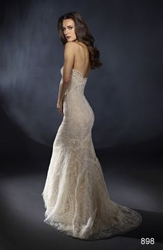 Bridal Gowns: Marisa Sheath Wedding Dress with Sweetheart Neckline and No Waist/Princess Seams Waistline  IM IN LOVE WITH THIS DRESS....gotta lose the rest of my weight to pull this one off