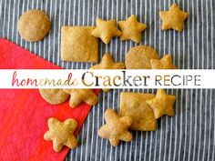 Whole-Wheat Cheddar Crackers Recipe {from @weelicious}- perfect kid-food!
