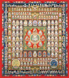 【楽天市場】高級肉筆仏画 胎蔵界曼荼羅 一点もの:仏像仏画チベット美術卸の天竺堂 Tibetan Mandala, Tibetan Art, Tibetan Buddhism, Buddhist Art, Thangka Painting, Sacred Geometry Art, Gautama Buddha, Religious Icons, Meditation