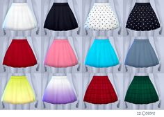 Dolly skirt   12 colors • CLICK PHOTO FOR DOWNLOAD.