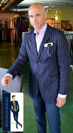 Frank, a FLIP Ambassador was in recently & got this awesome outfit with a Eton shirt, H blazer & FLIP pocket square!