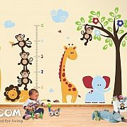 Safari Children Wall Decals and Stickers Giant Wall Stickers – Lion and Monkeys