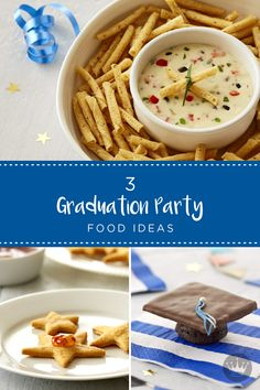 After the ceremony ends and the caps are thrown, that's when the real party starts! Celebrate your favorite grad with these easy graduation party food ideas. From cheesy gold stars to mortarboard cupcakes, these clever recipes are the smartest addition to your party spread.