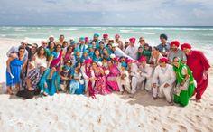 Colorful indian bridal party shot | Image courtesy of Banga Photography. Discover more Indian Bridal Party inspiration at www.shaadibelles.com #weddings #southasian #shaadibelles #bridesmaids #groomsmens