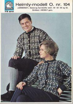 Jonsknut 104 Vintage Knitting, Hand Knitting, Knitting Patterns, Oven Design, Norwegian Knitting, Color Combinations, Men Casual, Mens Tops, Craft Ideas