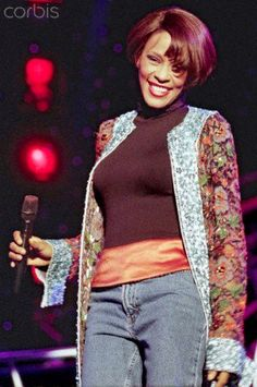 25 Aug 1999, Germany --- (dpa file) -A file picture dated 25August 1999 shows US singer Whitney Houston during a concert in Vechta,Germany.