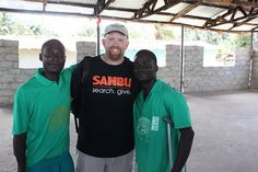 Jay Weight with some Students of the Journey Against Violence (JAV) Program.  The JAV Program reforms former child soldiers and others, teaching them life-skills and ridding their life of drugs and other terrible things.  #Sahbusearch