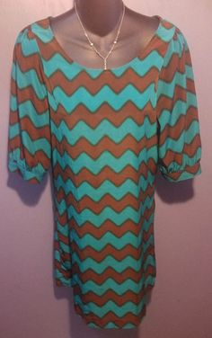 Alya Francesca's Anthropologie Summer Chevron Pattern Shift Dress S BEAUTIFUL!! #Alya #Shift