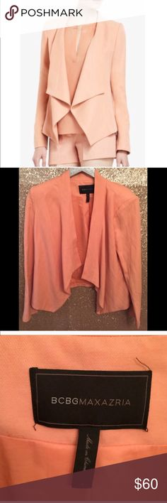 BCBG MAX ABREE size L Draped RELAXED JACKET ✔️ size large great condition jacket                                                          ✔️Drape style                                                                                        ✔️ size large                                                                               ✔️BCBG MAXAZRIA BCBGMaxAzria Jackets & Coats Blazers