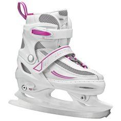 Lake Placid Summit Girls' Adjustable Ice Skates, White