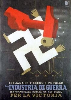Republic propaganda poster | Spanish civil war 1936/39 #Afiches #Carteles #Spain… Ww2 Propaganda Posters, Political Posters, Revolution Poster, Spanish War, Spanish Posters, Teaching History, Historical Images, Party Poster, European History
