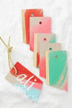 Gilt Brushwork Gift Tags