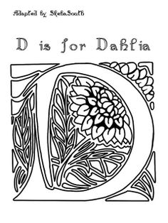 D is for dahlia