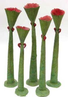 Raewyn Atkinson, NZ, Hakirimata Quintet (Unda), Glazed high fired earthenware