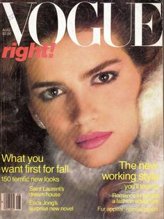 """Gia Carangi started her career in Philadelphia in local catalogue and store ad fashions. She was a trailblazer in that she didn't smile a lot and had a slim figure yet very busty( naturally) which was great for bathing suit sales, which she became high demand for. The darker brunettes found her a welcome change . She also paved the way for models like Cindy Crawford( """"Baby Gia""""when she started) , Christy Turlington  , Josie Maran, Paulina Porizkova and others."""