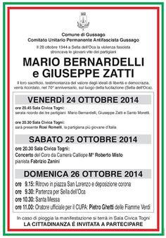 """Programma commemorazione del 70° anniversario di """"Sella dell'Oca"""" - http://www.gussagonews.it/programma-commemorazione-70-anniversario-sella-oca-gussago-2014/"""