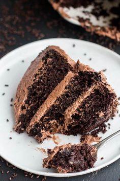 Simple Chocolate Birthday Cake with Whipped Chocolate Buttercream | halfbakedharvest.com