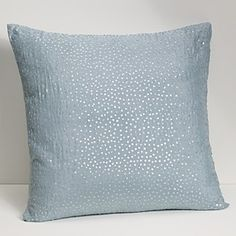 Light blue pillow...with little sparkles..love this