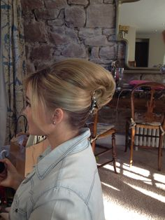 Bridal up do by Sitting Pretty,  French Pleat