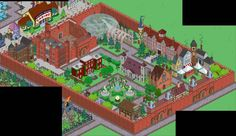Third and final design, I promise! This is on my second town. Springfield Tapped Out, The Simpsons Game, Sims, City Photo, Horror, Adventure, Design Ideas, Treehouse, Fingers