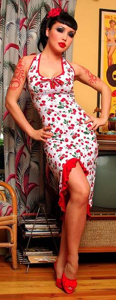 I m a sucker for pin-up dresses! Love the whole sassy thing 9e4779b5b4e