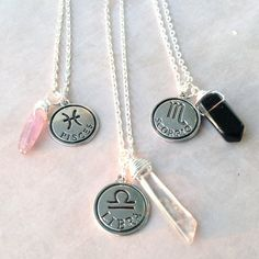 Zodiac Sign Necklace | Astrology Charm Birthday | Aries Taurus Gemini Cancer Leo…