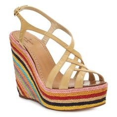 eeeek! I must also have these delightful Kate Spade Lindsay wedges for my Vespa to #RIDECOLORFULLY