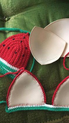 Crochet Bikini Pattern, Crochet Crop Top, Swimsuit Pattern, Crochet Crafts, Yarn Crafts, Easy Crochet, Yarn Projects, Crochet Projects, Crochet Clothes