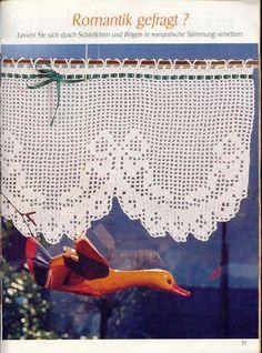 Kira scheme crochet: Scheme crochet no. Filet Crochet, Art Au Crochet, Crochet Home, Thread Crochet, Knit Crochet, Crochet Curtains, Crochet Doilies, Crochet Decoration, Filets