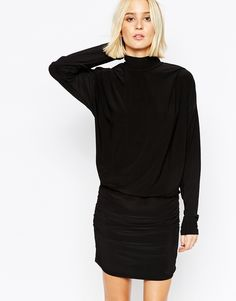 Gestuz Fitted Dress with High Neck