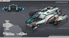Colonial Scout and Gunship done for Everspace by Rockfish Games. Both Ships are modular designs with different configurations.
