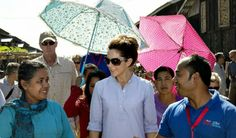 Crown Princess Mary vists a refugee camp on day 3 of her visit to Myanmar 1/12/2014