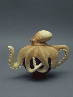 Fantasy | Whimsical | Strange | Mythical | Creative | Creatures | Dolls | Sculptures | octopus teapot