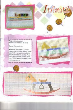 Fabinha Gráficos Para Bordados: Ponto Oitinho Pot Holders, Bullet Journal, Album, Cd Crafts, Straight Stitch, Crochet Baby Boots, Brazilian Embroidery, Baby Afghans, Embroidered Towels