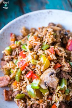Cajun Dirty Rice - Pinch Of Nom Slimming Recipes Dirty Rice Slimming World, Slimming World Dinners, Slimming Eats, Slimming World Recipes, Cajun Dirty Rice Recipe, Cajun Rice, Dirty Fries, Sw Meals, Cooking Recipes