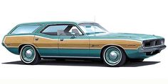 1970 Plymouth Barracuda Station Wagon Concept Car - Promotional Poster