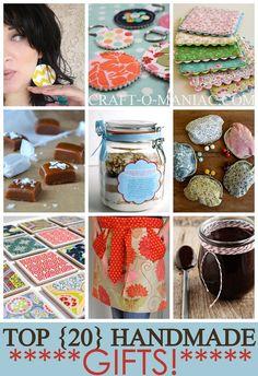 Craft-O-Maniac: Top 20 Handmade Gifts  20 ötlet házilag készíthető ajándékra!