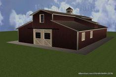 6 Stall Horse Barn Plans