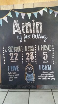 My First Bday sign. Courtesy of Saba!